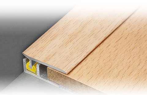 Dural clipper border for Jonction carrelage parquet flottant