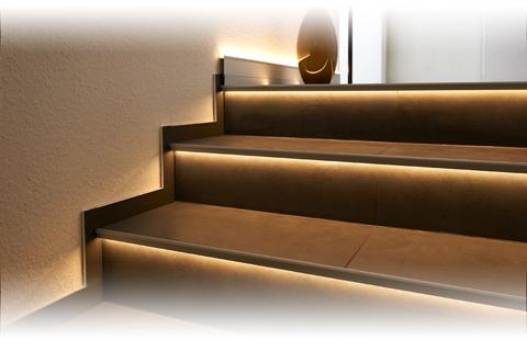Dural Florentostep LED lépcsőprofil LED világítással